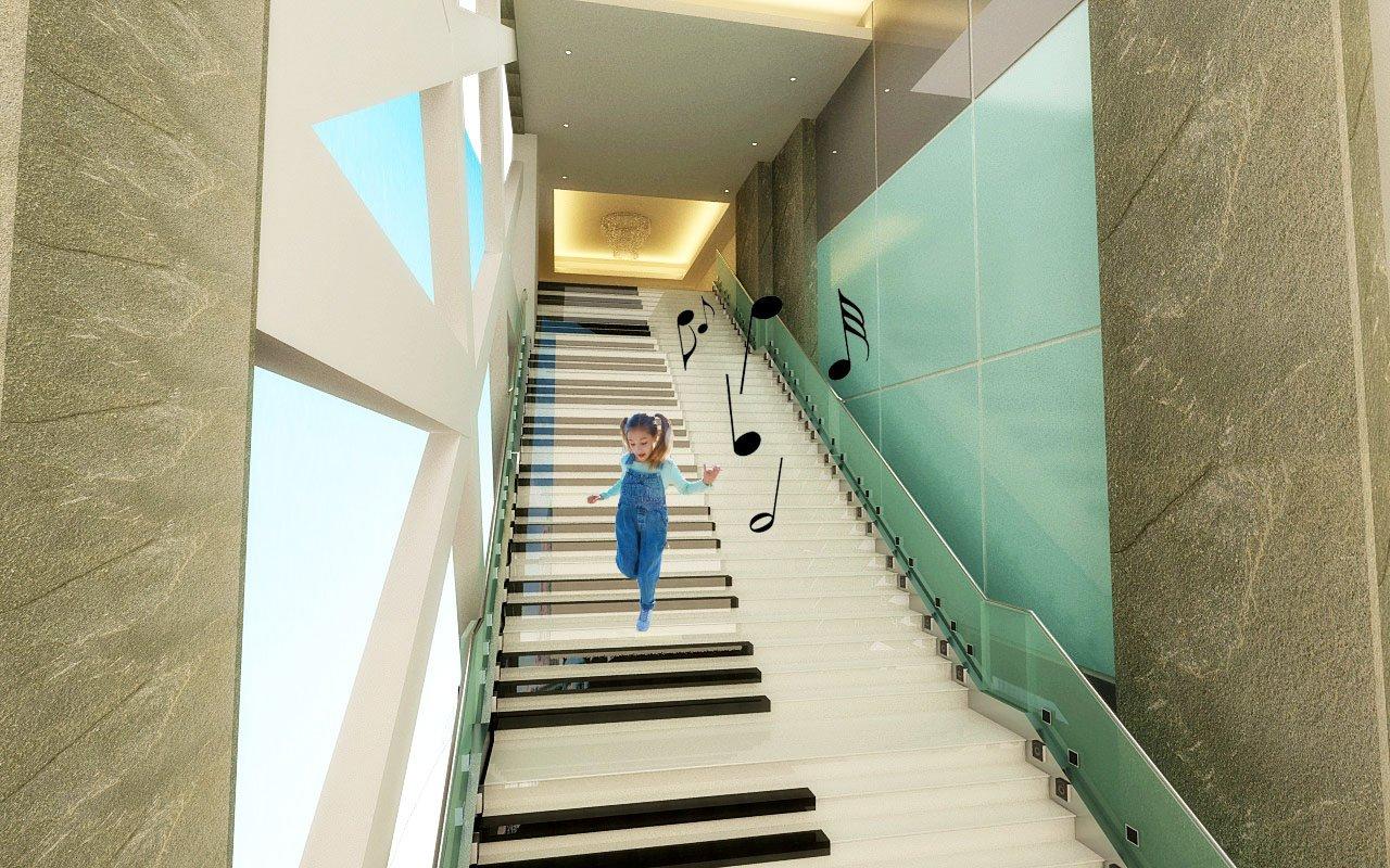 音乐楼梯_钢琴楼梯_地面钢琴_音乐楼梯制作_音乐互动楼梯